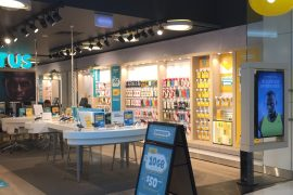 Front of Optus store